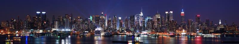 Panorama del horizonte de New York City Manhattan imágenes de archivo libres de regalías