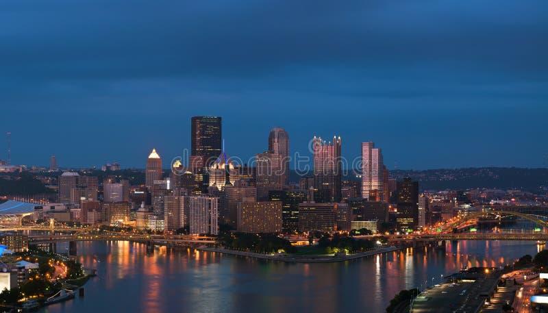 Panorama del horizonte de Pittsburgh. fotos de archivo