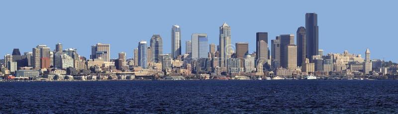 Panorama del horizonte de Seattle. imagen de archivo libre de regalías