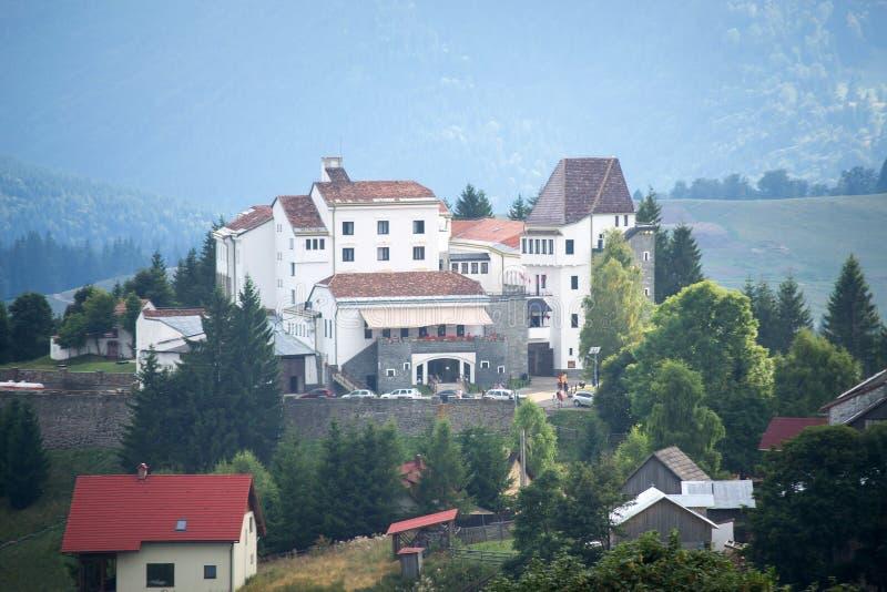 Panorama del hotel de Drácula imagen de archivo