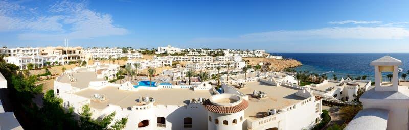 Panorama del hotel de lujo, Sharm el Sheikh fotos de archivo