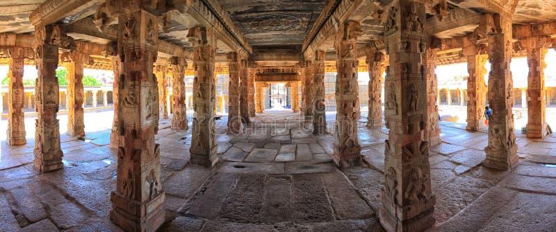 Panorama del interior del templo de Krishna, Hampi imagen de archivo libre de regalías