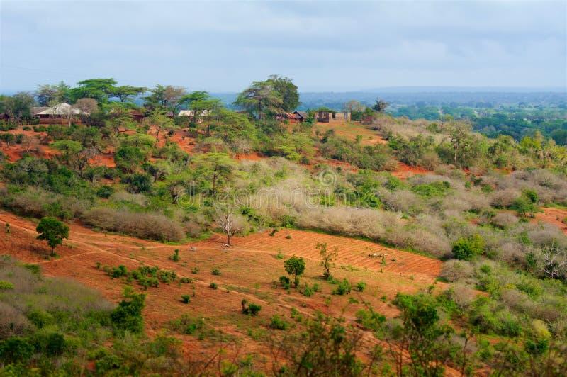 Panorama del Kenya in Africa immagini stock