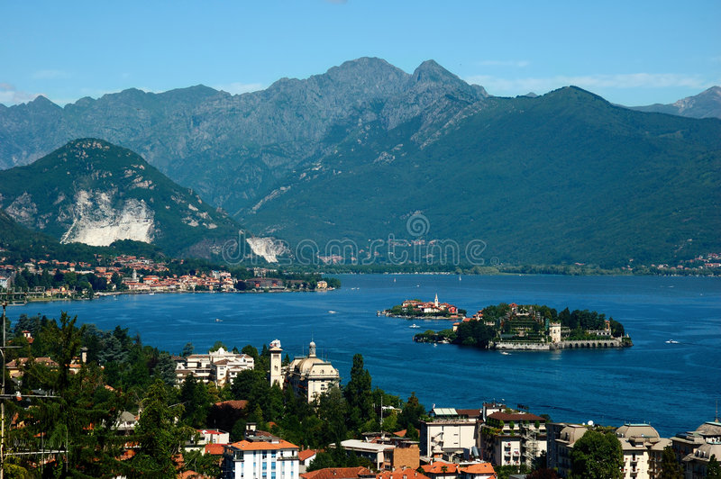 Panorama del lago immagine stock