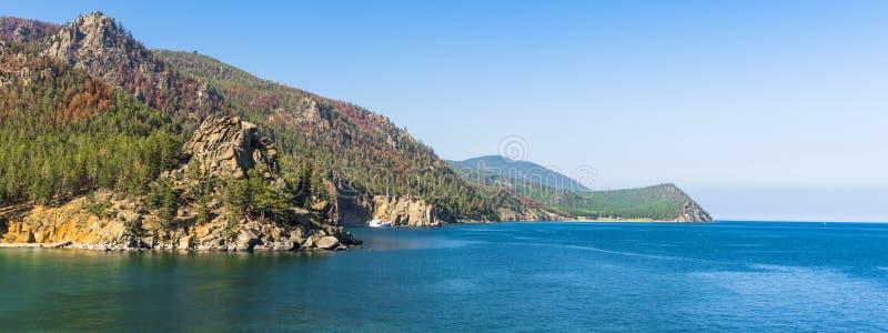 Panorama del lago Baikal immagine stock