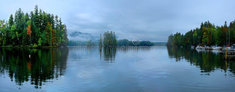 Panorama del lago George, NY fotos de archivo