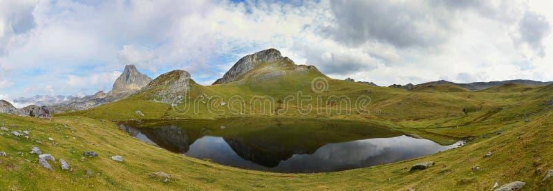 Panorama del lago glacial Paradis fotografía de archivo libre de regalías