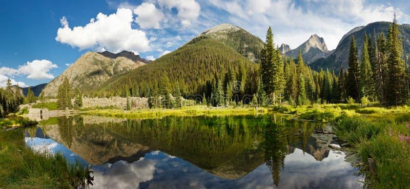 Panorama del lago mountain di Colorado immagini stock