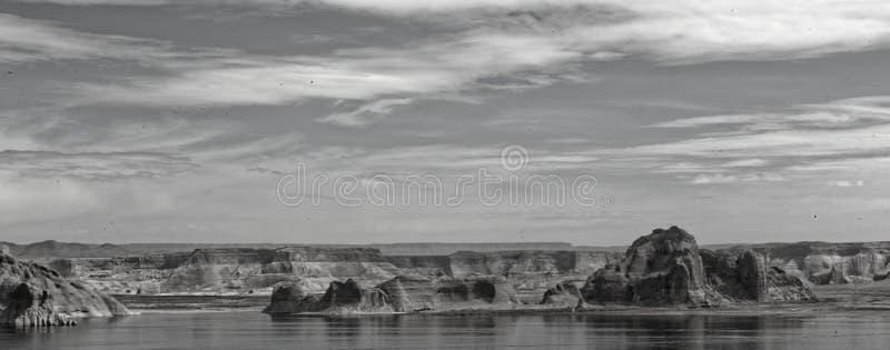 Panorama del lago Powell, Arizona fotos de archivo libres de regalías