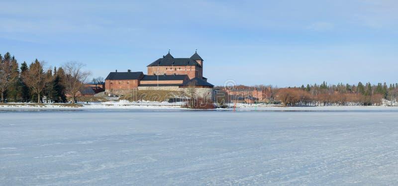 Panorama del lago Vanajavesi Sity de Hameenlinna, Finlandia fotos de archivo