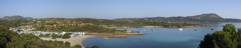 Panorama del litorale della Sardegna immagini stock