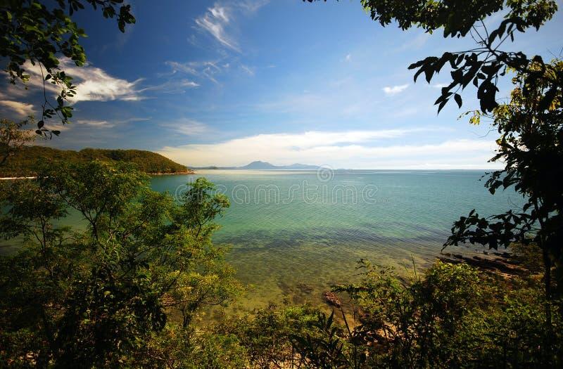 Panorama del mar del corral fotos de archivo