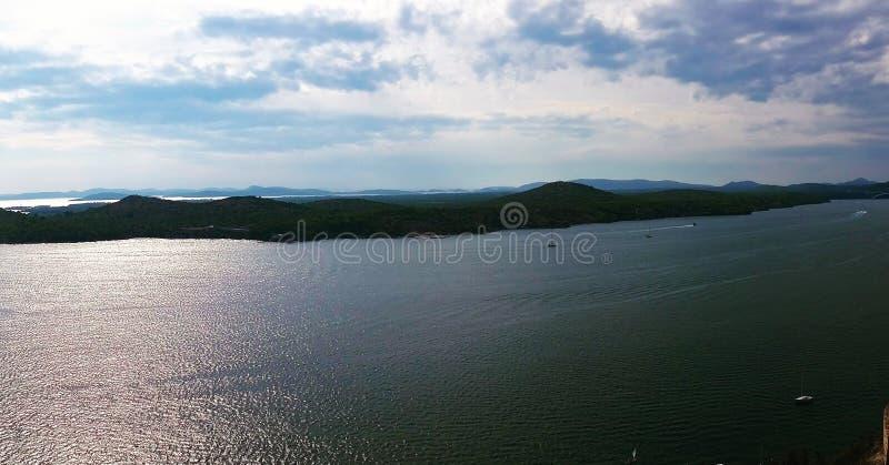Panorama del mare immagine stock