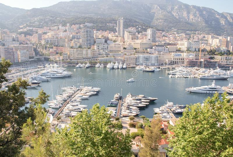 Panorama del Monaco fotografia stock libera da diritti