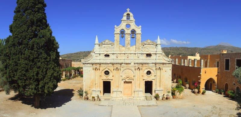 Panorama del monasterio de Arkadi imagen de archivo libre de regalías