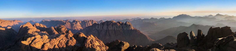 Panorama del monte Sinai immagini stock