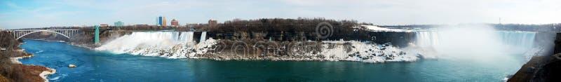 Panorama del Niagara Falls immagini stock libere da diritti