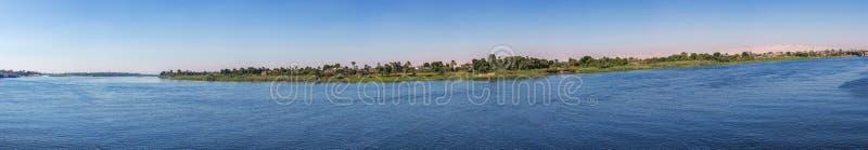 Panorama del Nilo a Luxor fotografia stock libera da diritti