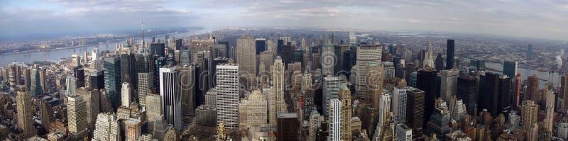 Panorama del nord di Manhattan immagine stock libera da diritti
