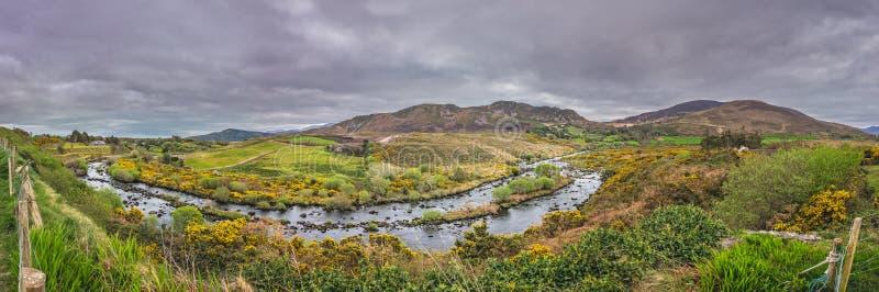 Panorama del paesaggio dell'Irlandese immagine stock libera da diritti