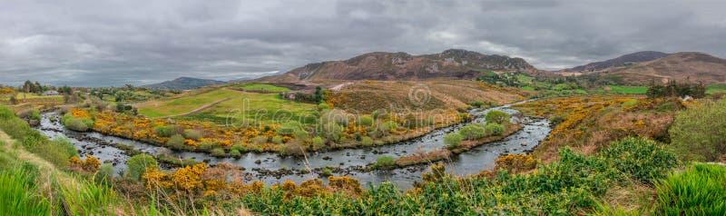 Panorama del paesaggio dell'Irlandese fotografie stock libere da diritti