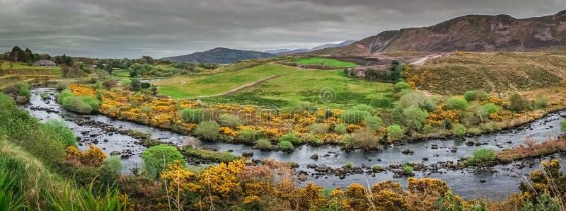 Panorama del paesaggio dell'Irlandese immagini stock libere da diritti