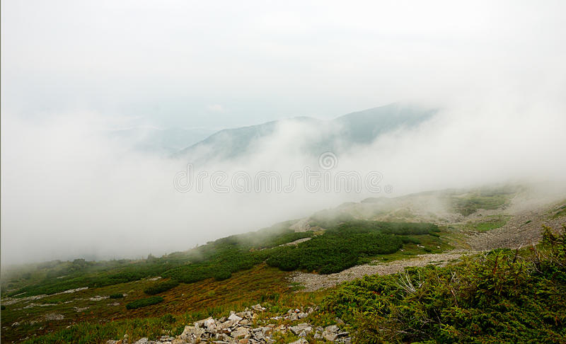 Panorama del paesaggio della montagna, bellezza della natura fotografie stock