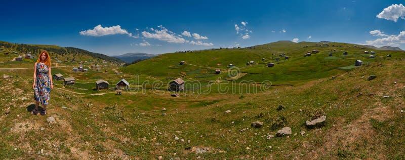 Panorama del paesaggio della regione di Adjara di Georgia fotografia stock