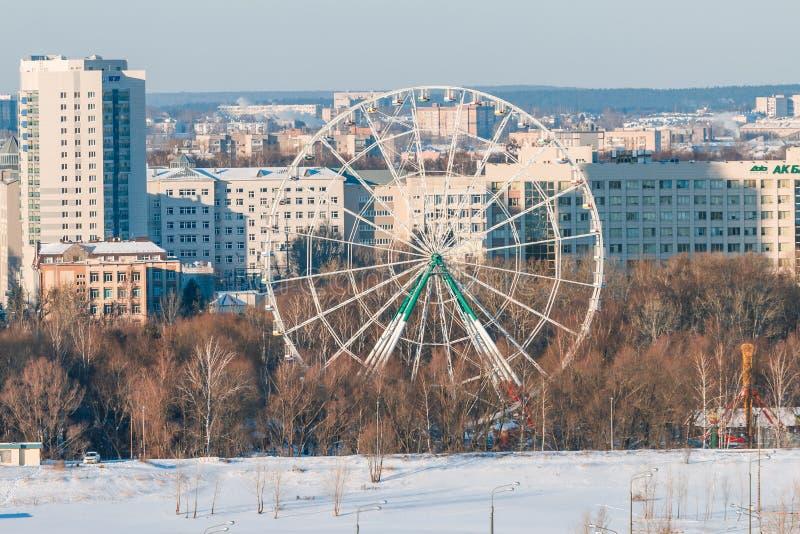 Panorama del paisaje urbano de Kazán fotografía de archivo libre de regalías