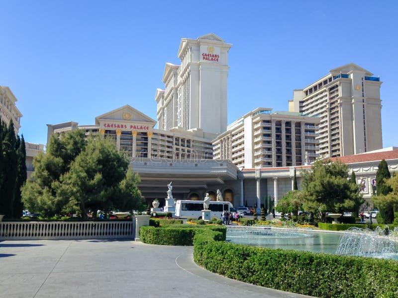 Panorama del palacio de Caesars en el Nevada Las Vegas Primavera 2015 imagen de archivo
