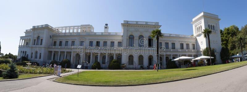 Panorama del Palacio Livadia en un claro día soleado, 09/04/2019, Yalta, Crimea fotografía de archivo libre de regalías