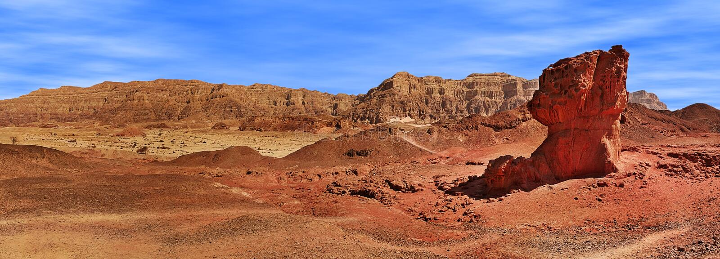 Panorama del parco di Timna, Israele. fotografia stock libera da diritti