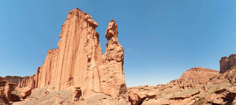 Panorama del parque nacional de Talampaya, la Argentina. fotos de archivo libres de regalías