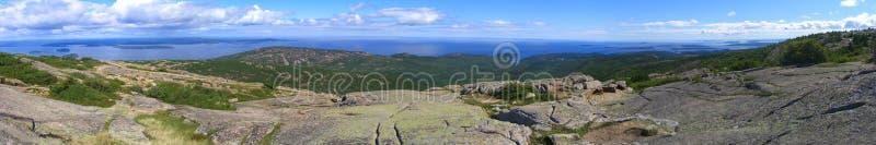 Panorama del parque nacional del Acadia de la bahía del francés foto de archivo libre de regalías
