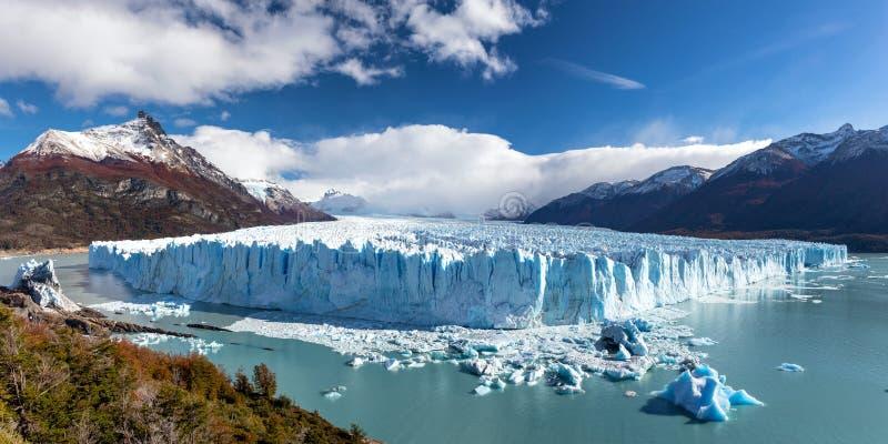 Panorama del Perito Moreno Glacier fotografie stock libere da diritti