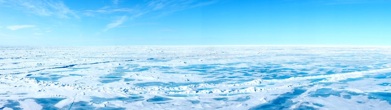 Panorama del polo nord geografico fotografia stock
