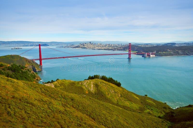 Panorama del ponticello di cancello dorato, California immagini stock