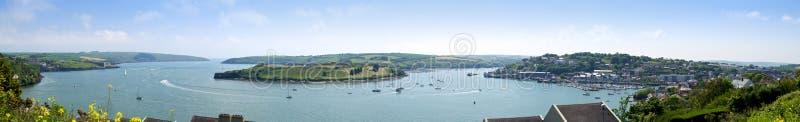 Panorama del porto di Kinsale, sughero fotografia stock
