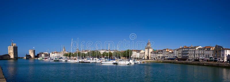 Panorama del porto di La Rochelle fotografie stock