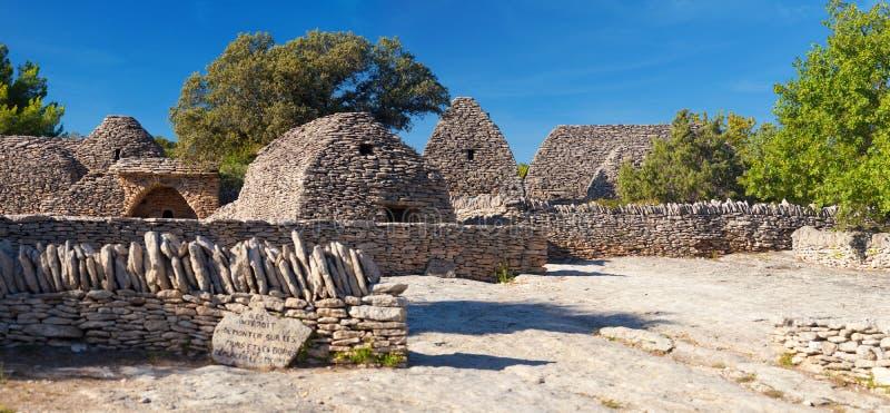 Panorama del pueblo de Bories en Gordes, Luberon Provence, Francia imágenes de archivo libres de regalías