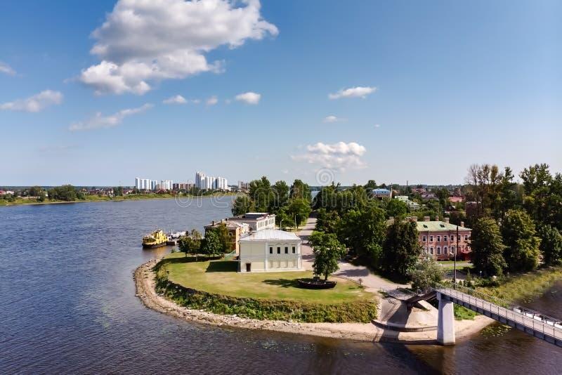 Panorama del pueblo de Ust-Izhora Alrededores de St Petersburg, Rusia fotos de archivo libres de regalías