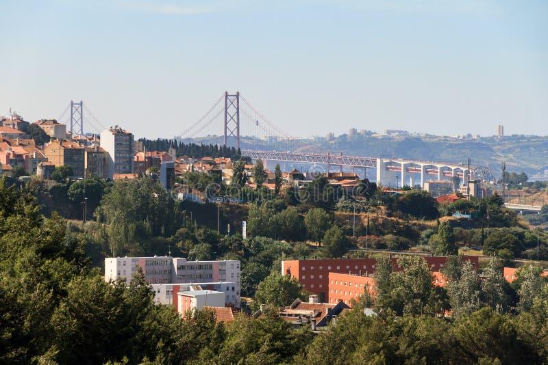 Panorama del puente fotos de archivo