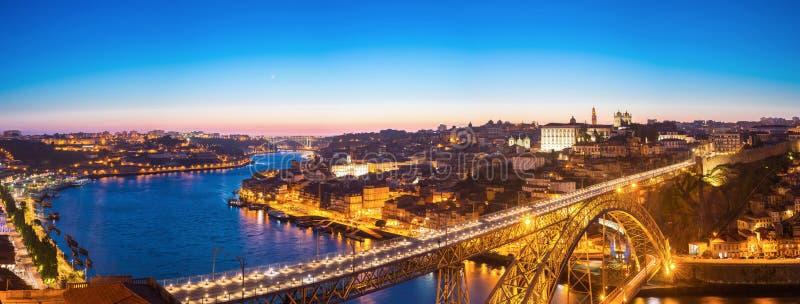 Panorama del puente de Dom Luiz foto de archivo