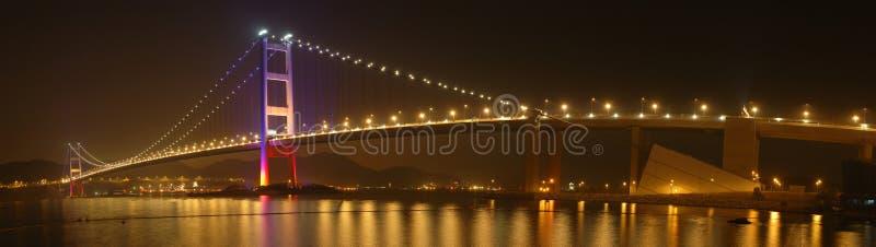 Panorama del puente de Tsing mA imágenes de archivo libres de regalías