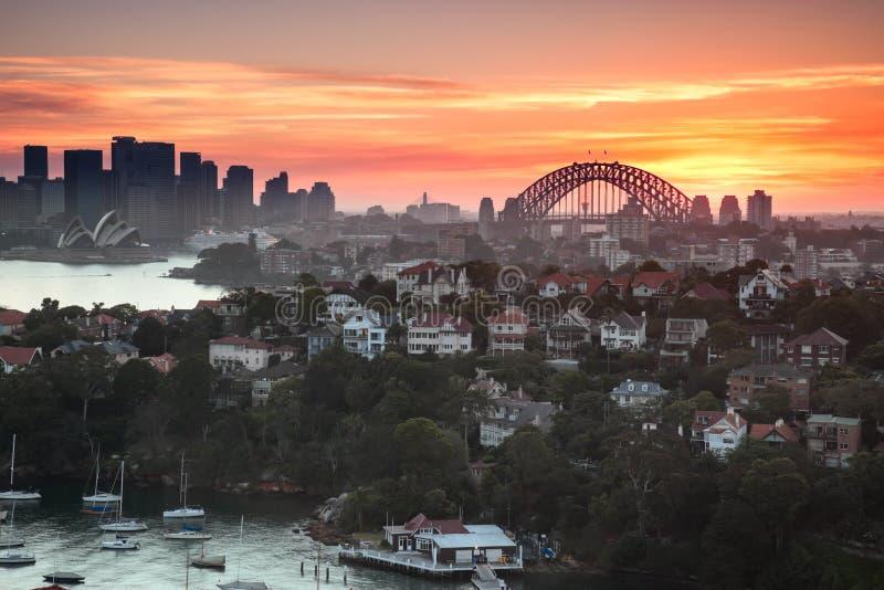 Panorama del puerto de Sydney fotografía de archivo libre de regalías