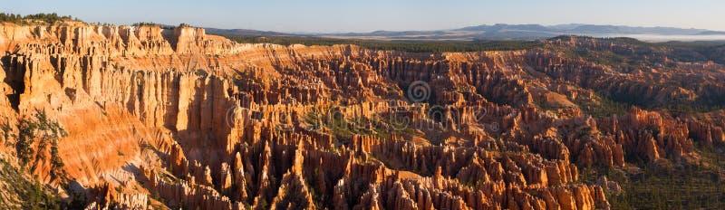 Panorama del punto di Bryce fotografia stock libera da diritti