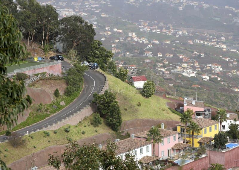 Panorama del punto ?lgido en la ciudad de Funchal de la isla de Madeira imagen de archivo libre de regalías