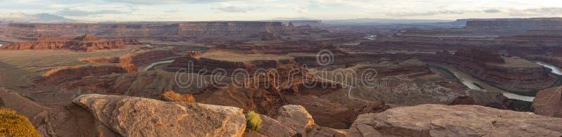 Panorama del río Colorado del punto del caballo muerto foto de archivo