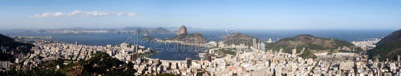 Panorama del Rio de Janeiro fotografia stock