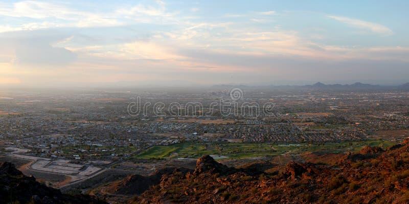 Panorama del sud della montagna di Phoenix fotografia stock libera da diritti